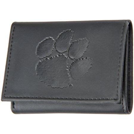 Tigers College Womens Wallet - Clemson Tigers Hybrid Tri-Fold Wallet - Black - No Size