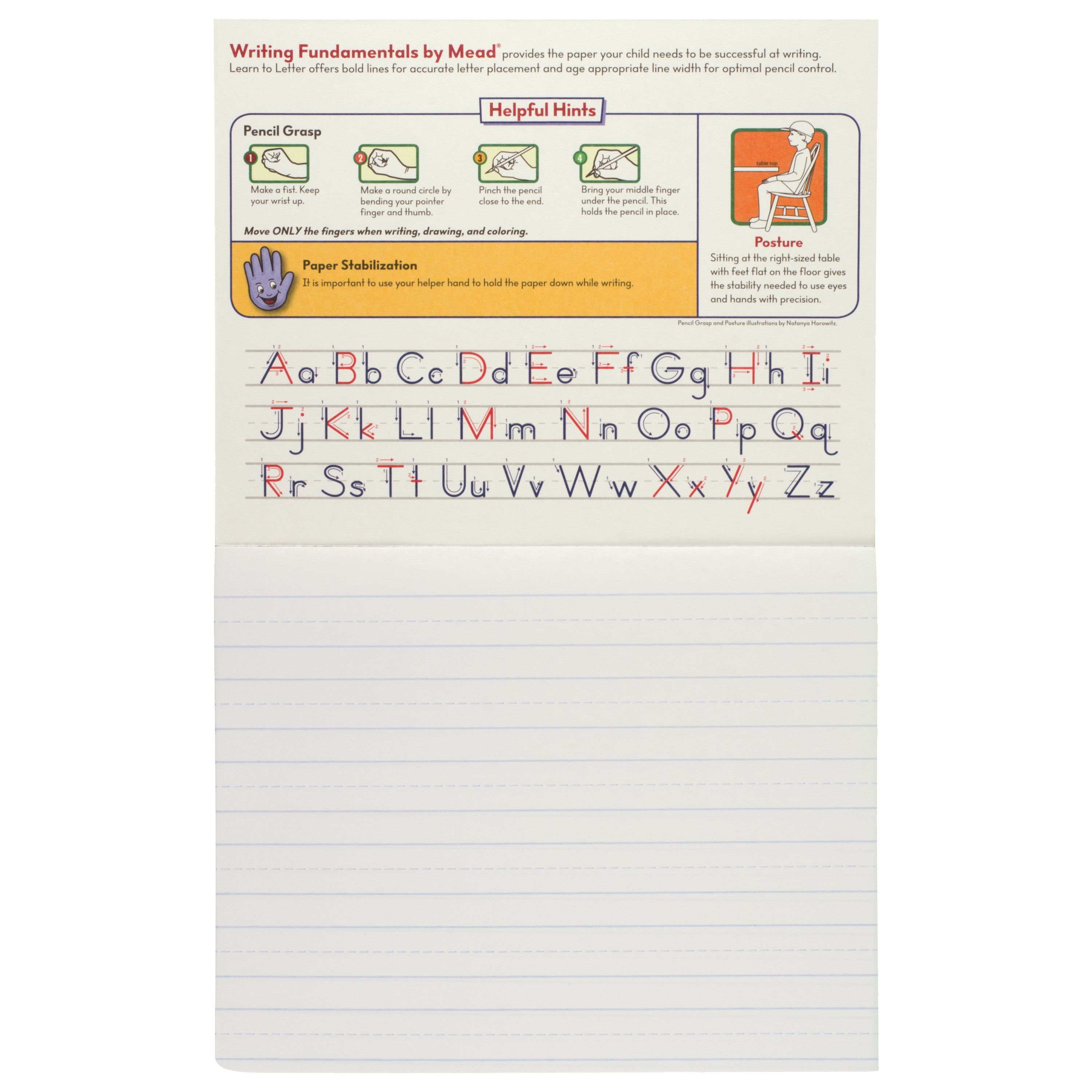 Mead Learn To Letter Primary Writing Tablet 10