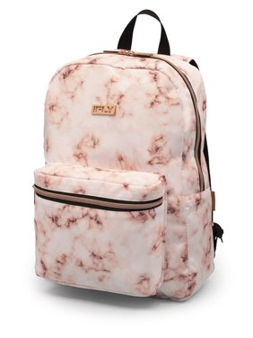 """Backpack Heather 16"""", White / Rose Gold Print"""