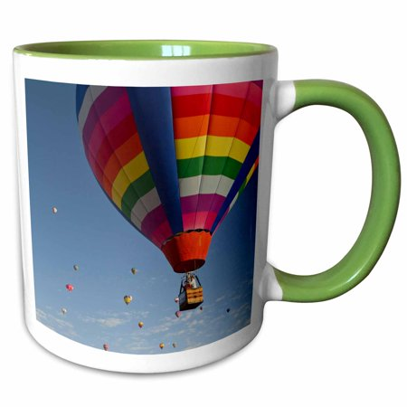 3dRose Albuquerque Hot Air Balloon, New Mexico, USA - US32 WSU0020 - William Sutton - Two Tone Green Mug, 11-ounce