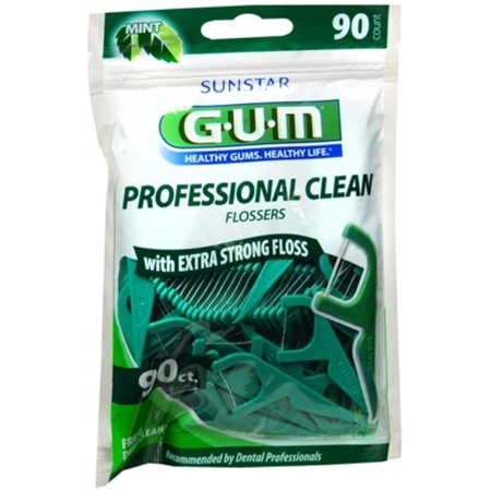 - GUM Eez-Thru Flossers Mint 90 Each (Pack of 3)
