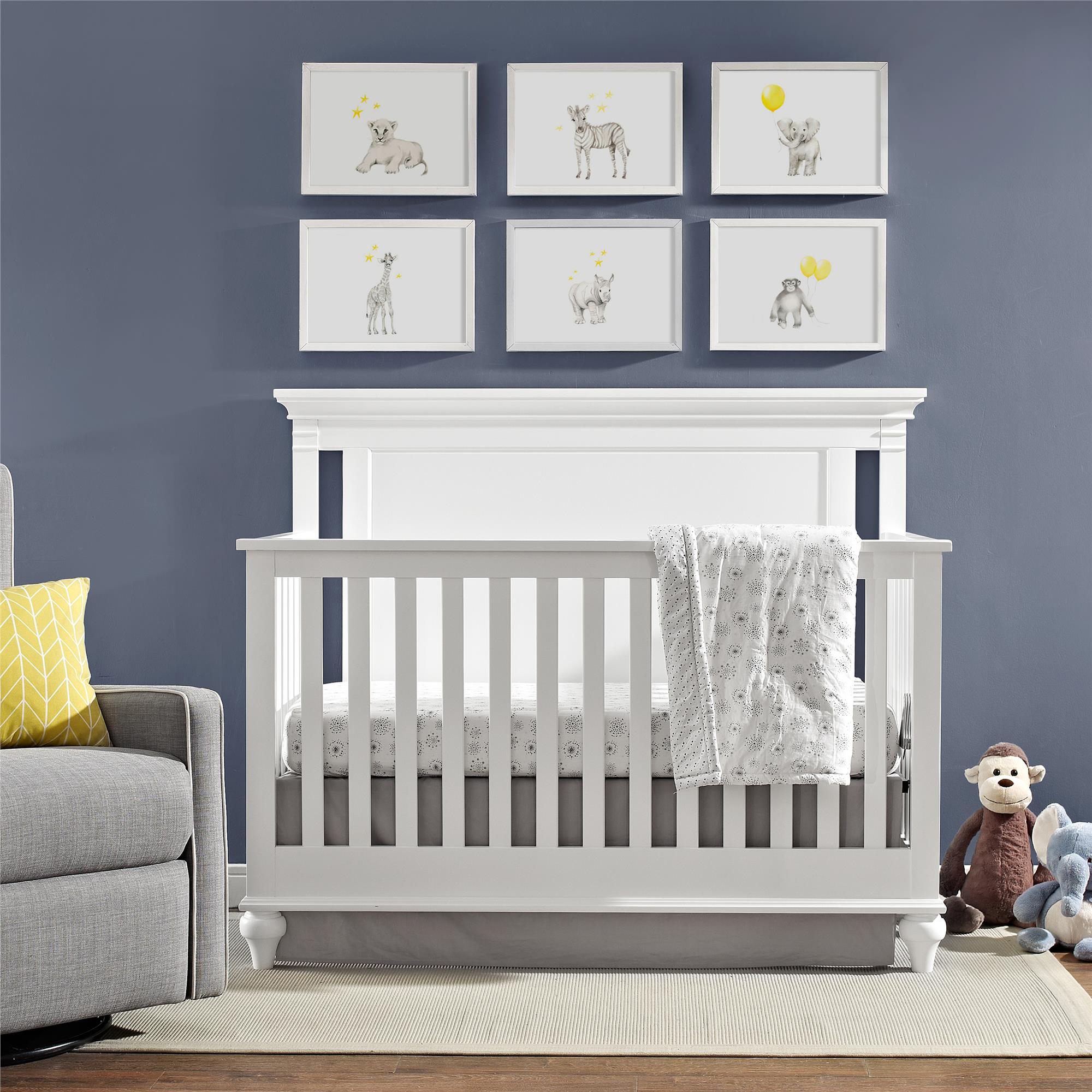 Baby Relax Jacey 4-in-1 Convertible Crib, Pure white