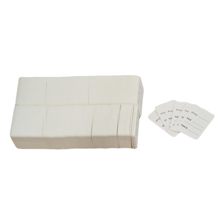 1000 PCS Small WHITE Merchandise Tags Price Jewelry Garment Store Paper Card 1-1/4 x 1-7/8 (Jewelry Cards)