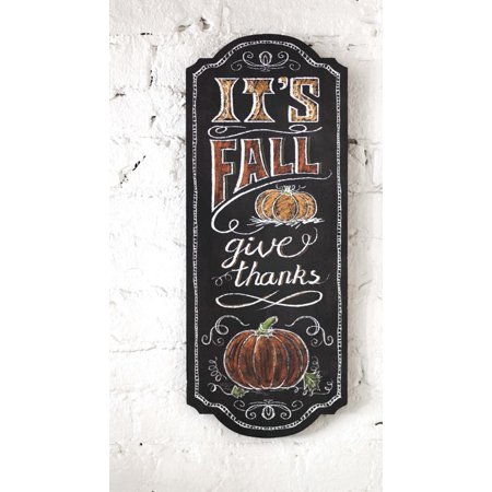 "23.75"" Thanksgiving ""Give Thanks"" Chalkboard Style Hanging Wall Sign Decoration"