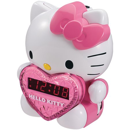 Hello Kitty Kt2064 Am/fm Projection Alarm Clock Radio