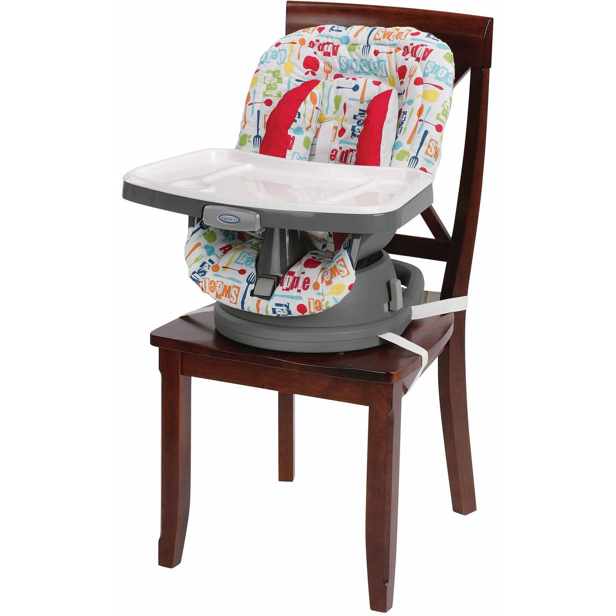 Svan Lyft High Chair Booster Seat Adjusts Easily to Most Chairs White Booster Seat 18 Mo to 5 Yrs