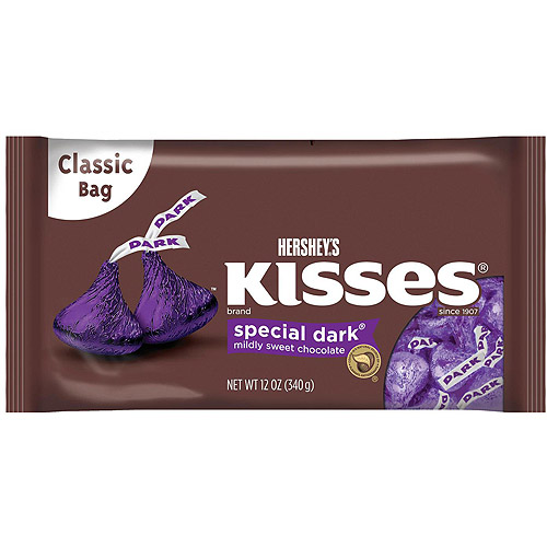 Kisses Special Dark Mildly Sweet Chocolate Candy, 12 oz