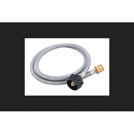Grillmark Stainless Steel/Rubber/Brass Gas Line Hose and Adapter 3 in. H x 46 in. L x 3 in. W