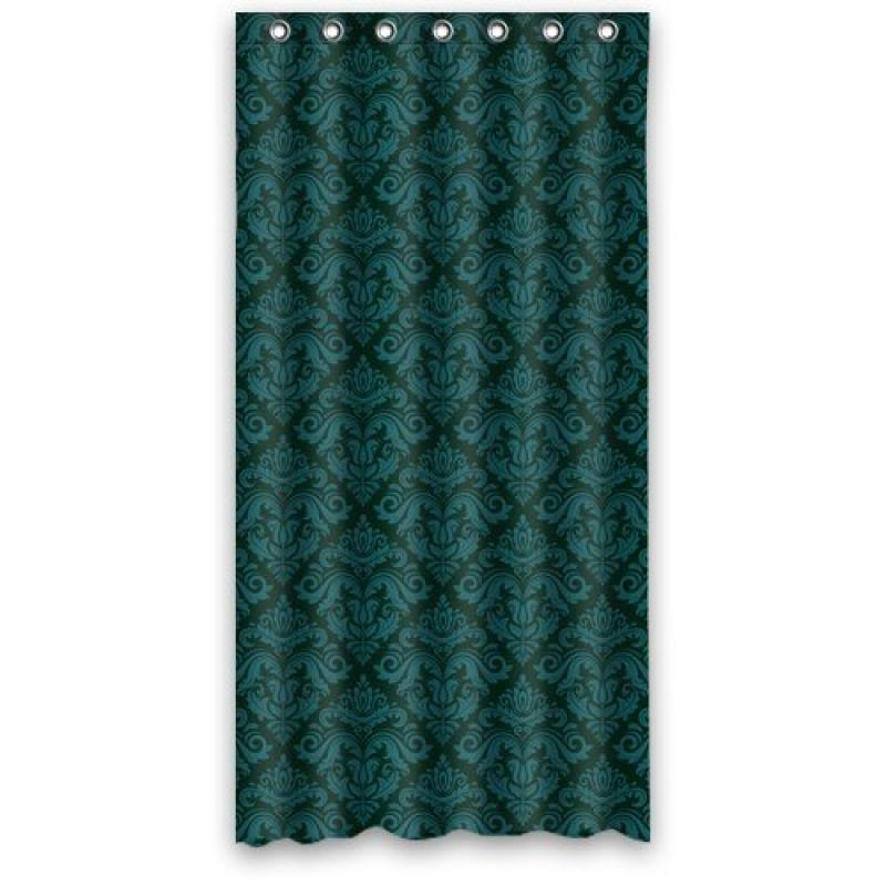 "Green flower pattern bathroom fabric shower curtain 36"" x 72"""