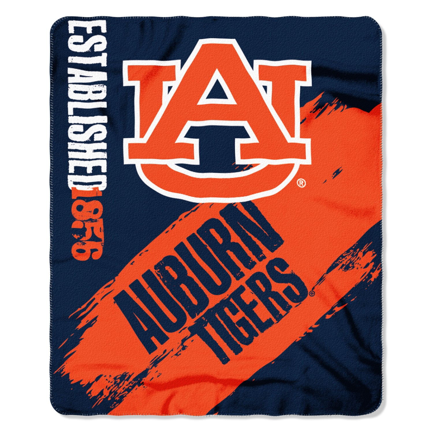 Auburn Tigers Painted Fleece Throw