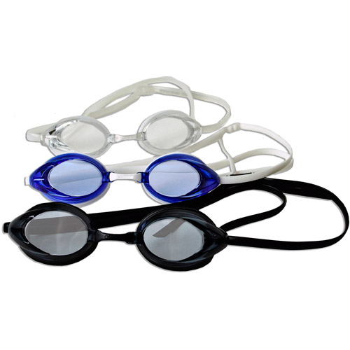 Adult Goggles, 3 Pack, Gray, Blue and Clear