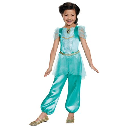 Morris Costumes Girls Little Jasmine Jumpsuit Classic Green 4-6, Style DG98459L - Jasmine And Aladdin Costumes