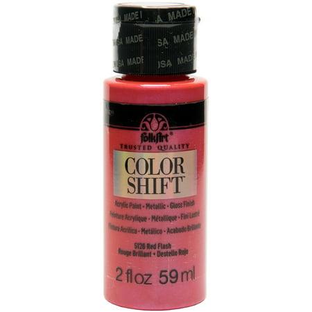 FolkArt Red Flash Color Shift Acrylic Paint, 2 Fl. Oz. (Acrylic Paint Colors)