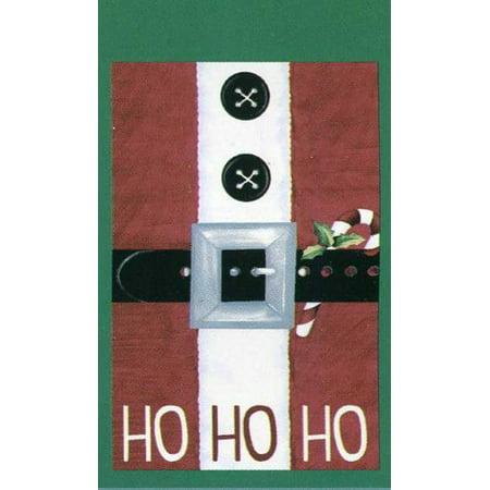 Ho Ho Ho Santa Suit Holiday Garden Flag, 12