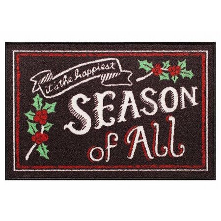 St Nicholas Square Happiest Season Of All Accent Throw Rug No Skid Mat 20x30