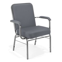 Ofminc School Furniture 500 Lbs Big & Tall Comfort Seat XL Series Gray Fabric Stacking Reception Chair with Arms