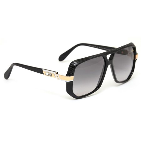 81b9591dc44 Cazal Sunglasses 627 3 704 Black Leather Limited Edition Gray Lens -  Walmart.com