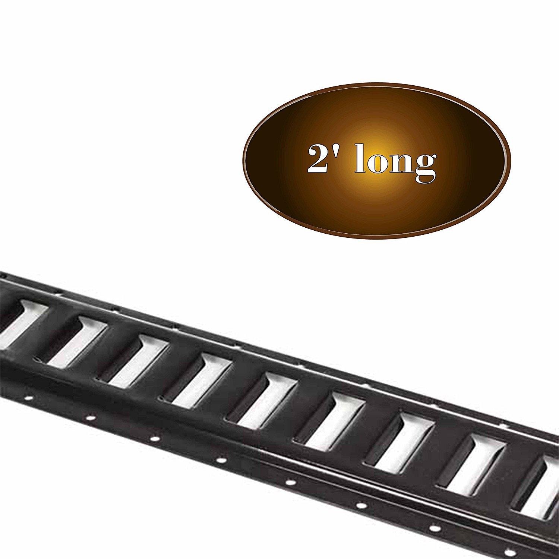 DC Cargo Mall E Track Tie-Down Rail, Black Powder-Coated 12 Gauge Steel ETrack TieDown, 2' x... by Dc Cargo Mall