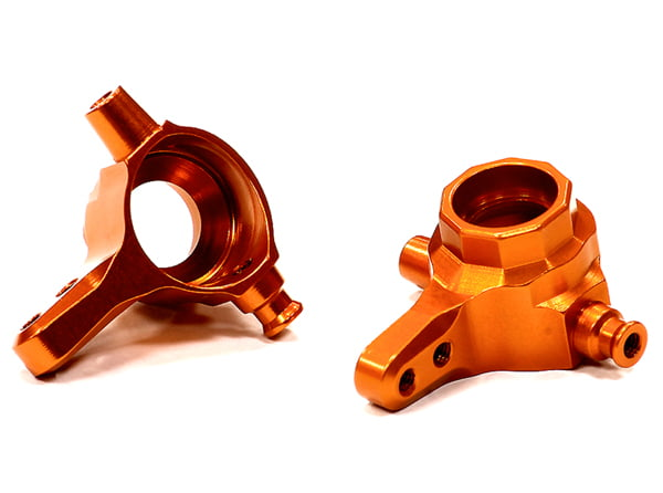 Integy RC Toy Model Hop-ups T8538ORANGE Billet Machined Steering Block (2) for Traxxas 1... by Integy