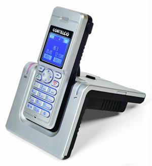 New Dect Cordless Telephone with Headset Jack/Belt Clip  Silver