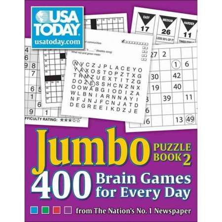 Usa Today Jumbo Puzzle Book 2  400 Brain Games For Every Day
