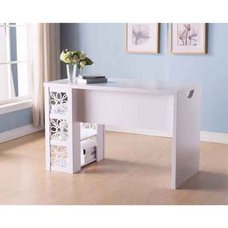 Writing/ Computer Desk With Floral Design, White