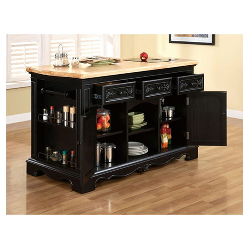 powell furniture pennfield kitchen island with granite top