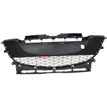 3 Piece Front Grille (NEW FRONT BUMPER GRILLE TEXTURED GRAY FITS 2010-2011 MAZDA 3 BBM4501T1H )