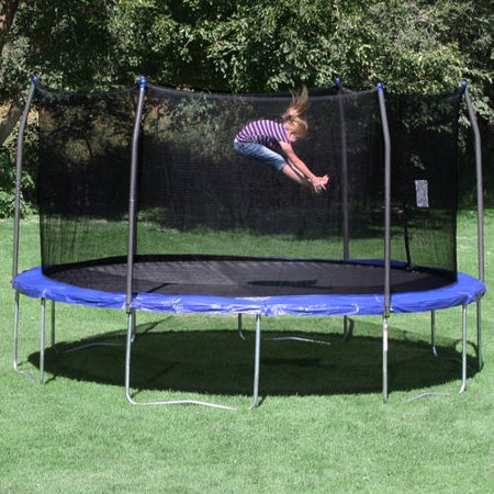Skywalker Trampolines 15-Foot Trampoline, with Enclosure, Blue