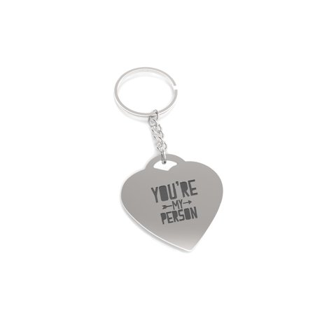 You Are My Person Right Arrow Key Chain Heart Shaped Key Ring Gift for Her