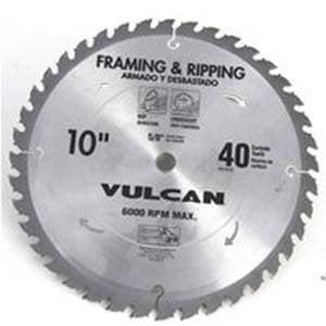 40t Smooth Cut (Vulcan 5577937 40T x 10 in. Fast Cut Carbide Blade )