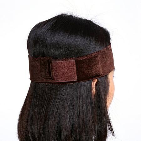 Fosa 1pc Flexible Velvet Fasten Wig Grip Scarf Hair Band Headband (Black),Flexible Velvet Fasten - Headband Wigs Short