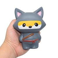 Squishy Ninja,WM&MW Crazy Fox Squishies Slow Rising Squeeze Decompression Stress Toys for Kids