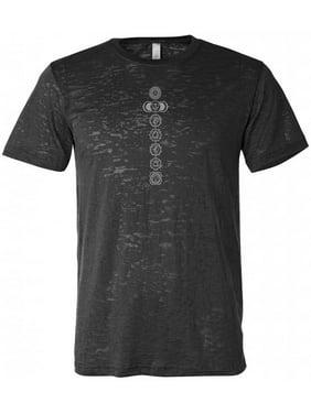 da0c814105 Product Image Men's 7 Chakras Burnout Yoga Tee Shirt - Black, ...
