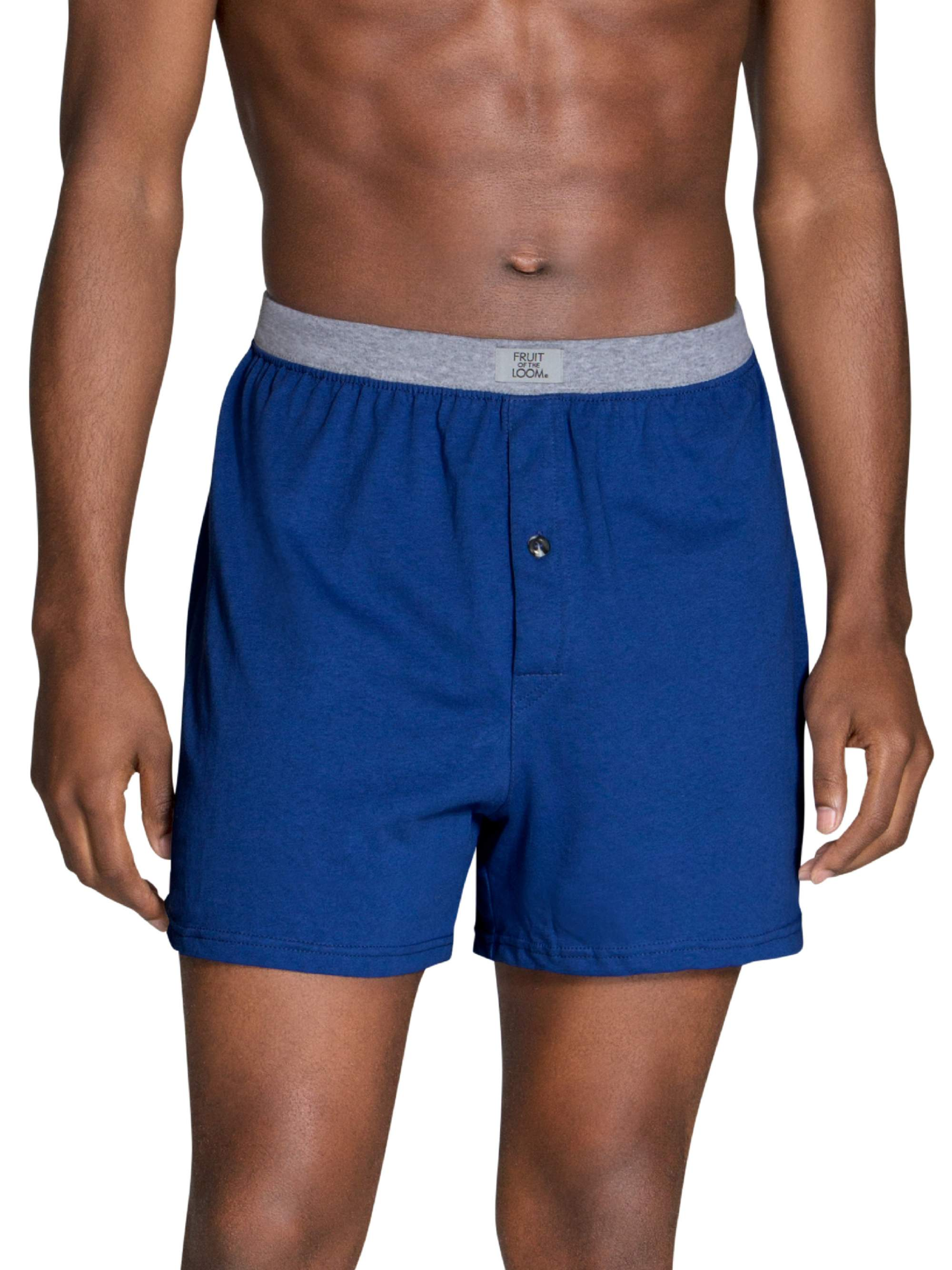 Men's Dual Defense Assorted Knit Boxers, 5 Pack