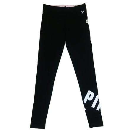 697c1cefbf959 Victoria's Secret - Victoria's Secret PINK Yoga Pants Flat Leggings Black  Logo S - Walmart.com