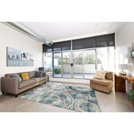 1573 Blue 8 x 10 Area Rug Carpet Large New ()