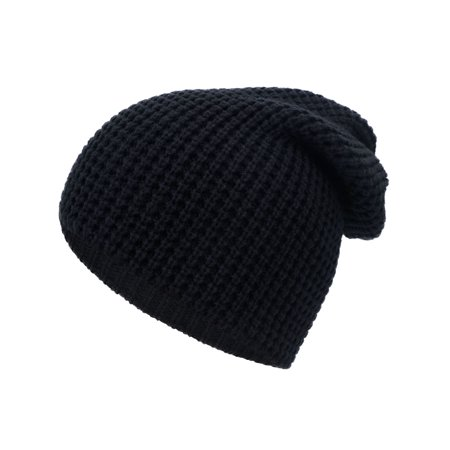 ad9f80740928b Simplicity Men   Women s Solid Thick Knit Slouchy Ski Skull Cap Beanie