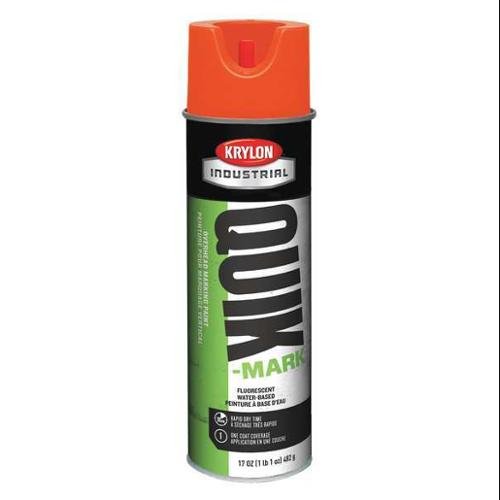 KRYLON Marking Paint,Fluorescent Red/Orange K04002004