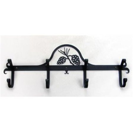 Wall Mounted Wrought Iron Coat Rack-Hooks - Pine Cones ()