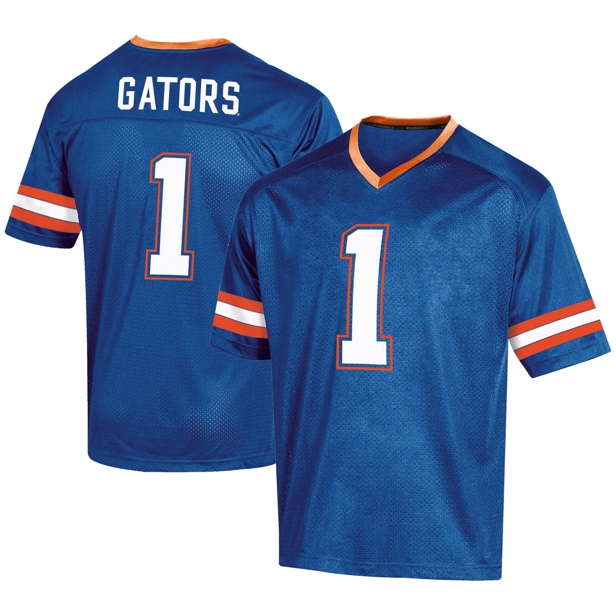Men's Russell #1 Royal Florida Gators Fashion Football Jersey