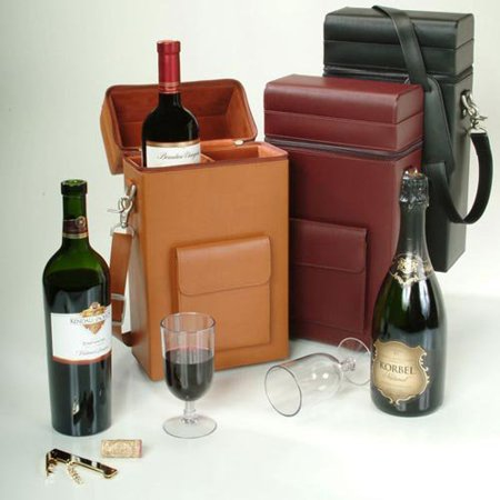 Connoisseur Wine Carrier with Optional Monogramming Connoisseur Wine Carrier