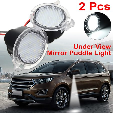 Non Puddle Light - 2Pcs White LED Side Mirror Puddle Light For  F150 Edge Mondeo Explorer Taubus 2015up