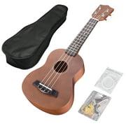 "Yescom 21"" Soprano Ukulele Hawaii Instrument 12 Frets for Beginners Gig Bag Show Party"