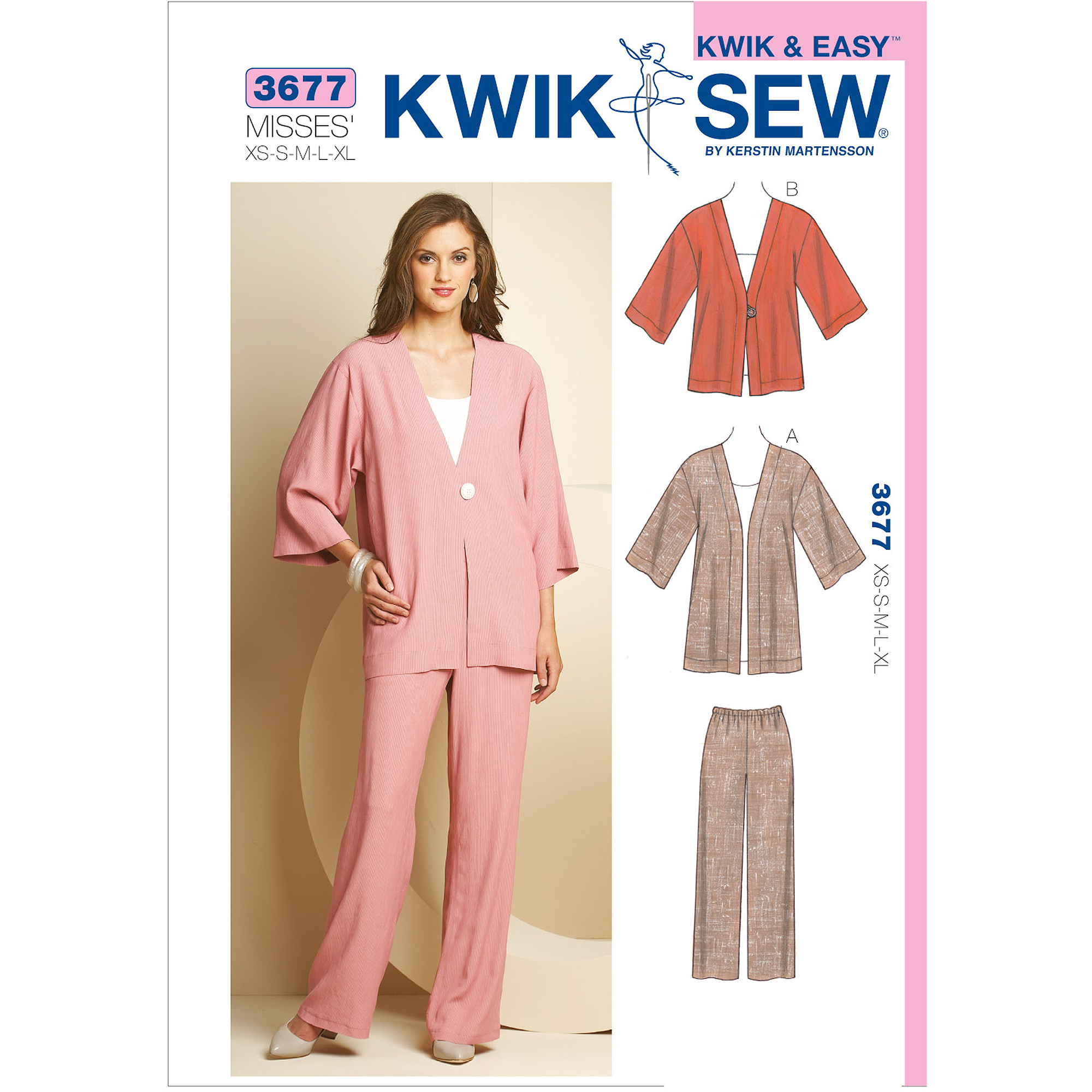 Kwik Sew Pattern Jackets and Pants, (XS, S, M, L, XL)