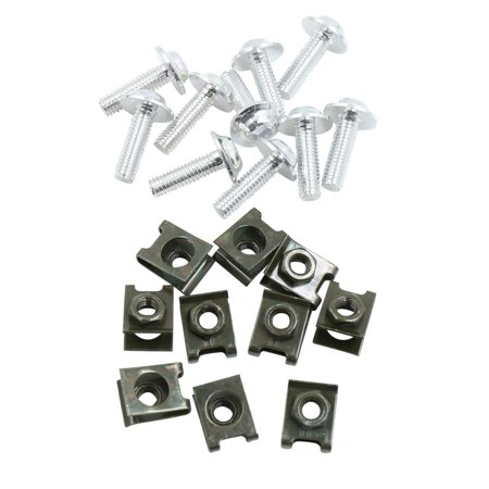 10pcs Metal 6mm U-Type Rivets Motorcycle Fastener Clips w