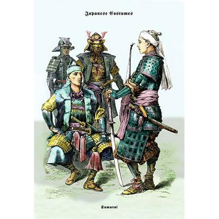 Japanese Costumes: Samurai Fine art canvas print (20