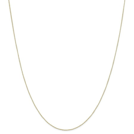 14kt Yellow Gold .42 Mm Carded Link Curb Chain Necklace 24 Inch Pendant Charm Fine Jewelry Ideal Gifts For Women Gift Set From (14k Yellow Gold Heart Dangle Necklace)