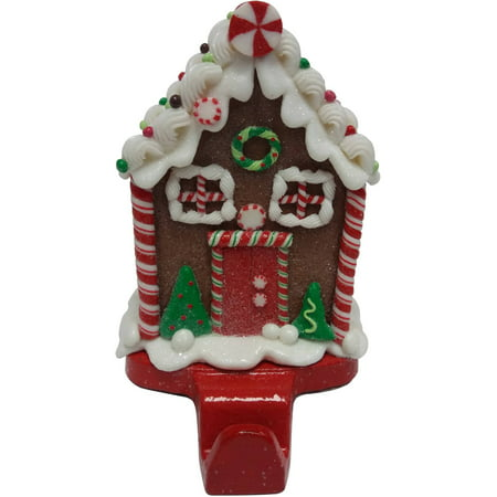 holiday time christmas decor gingerbread house stocking holder - Gingerbread House Christmas Decorations