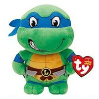Teenage Mutant Ninja Turtles TY Beanie Babies  7 Inch Small Toy Plush - Leonardo